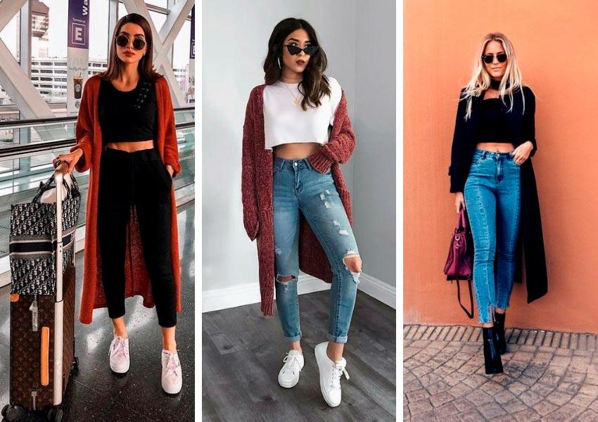 Como usar roupas de verao no inverno cropped