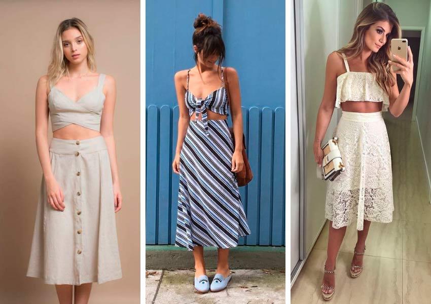 Regras de moda que mulheres baixinhas nao precisam obedecer saia midi e cropped