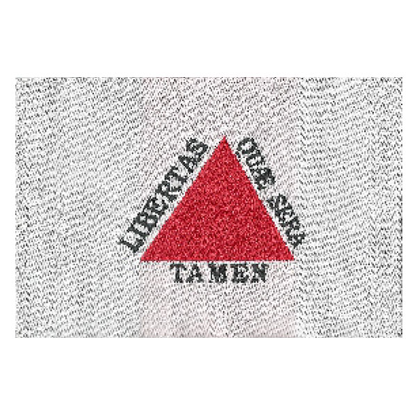 Etiqueta Bandeira de Minas Gerais Pequena
