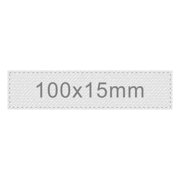 Personalizar Etiqueta 100x15mm | Sansil Etiquetas Bordadas