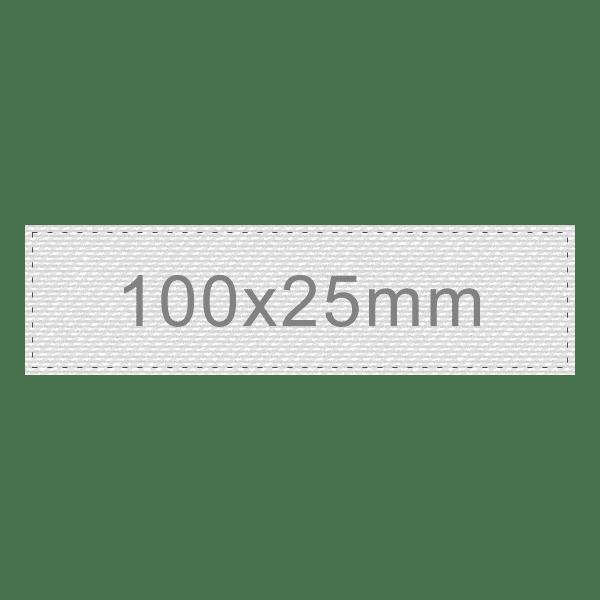 Personalizar Etiqueta 100x25mm | Sansil Etiquetas Bordadas