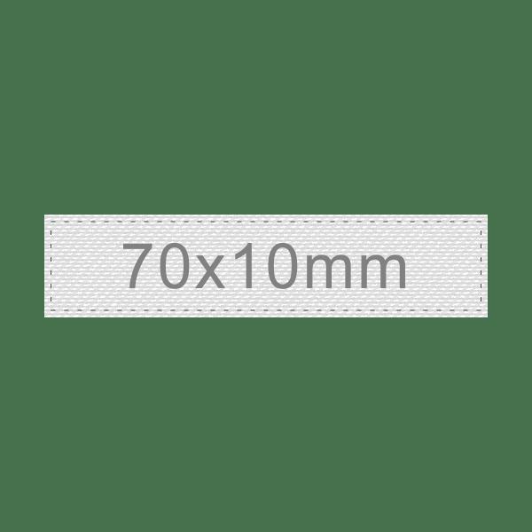 Personalizar Etiqueta 70x10mm | Sansil Etiquetas Bordadas