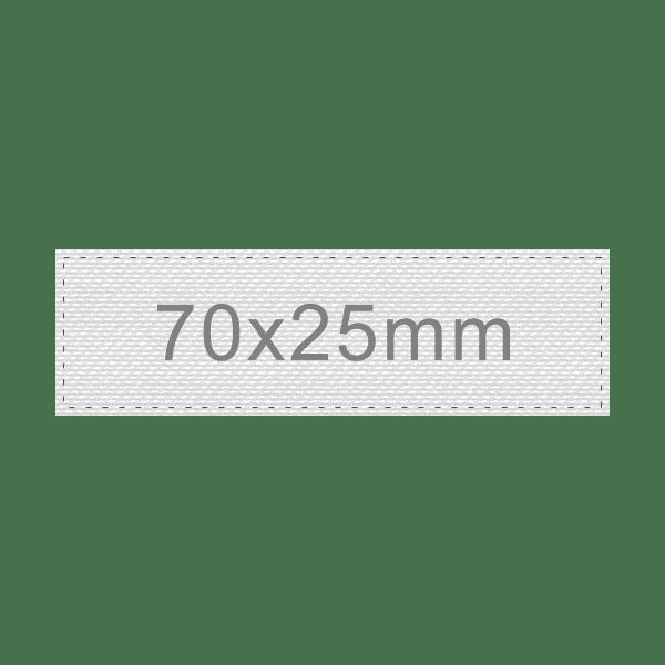 Personalizar Etiqueta 70x25mm | Sansil Etiquetas Bordadas