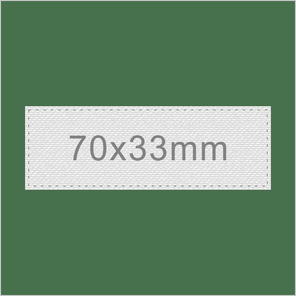 Personalizar Etiqueta 70x33mm | Sansil Etiquetas Bordadas