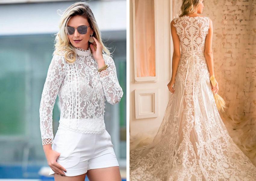 modelo-de-blusa-e-vestido-de-noiva-em-tecido-renda