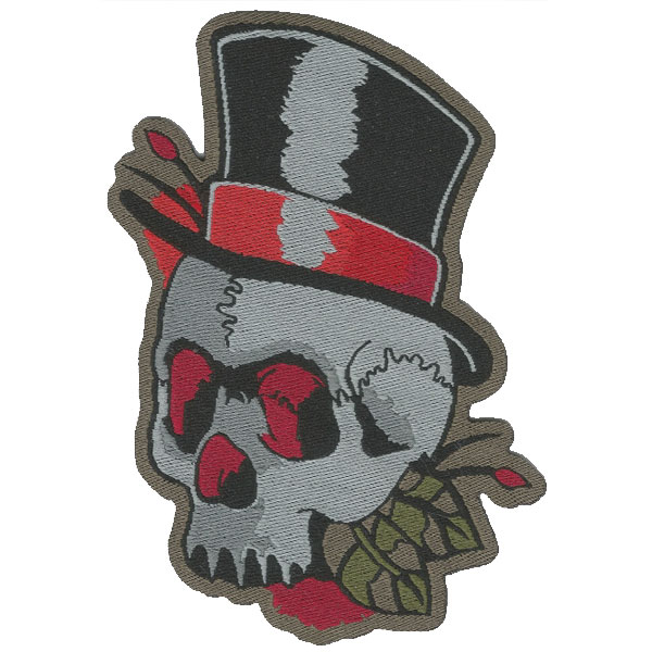 Patch Caveira | Sansil Etiquetas Bordadas