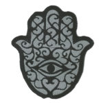Patch A Mão de Hamsá | Sansil Etiquetas Bordadas