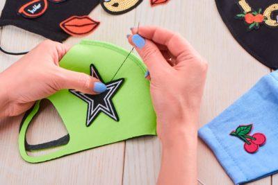 Personalize a máscara do seu filho com os patches!